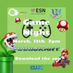 ESN Coventry is having a celebratory Mario Day Game night